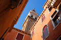 Venetian church tower Royalty Free Stock Image