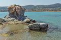 Venetian fortress and port in Naoussa town, Paros island, Greece Royalty Free Stock Photo
