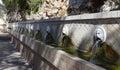 Venetian fountain in village of Spili, Crete Royalty Free Stock Photo