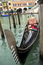 Venetian gondola in grand canal Stock Photos