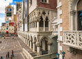 The Venetian Hotel and Casino view of the plaza entrance Royalty Free Stock Photo