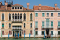 Venetian houses in sestiere san marco on grand canal venice italy Stock Photography