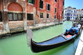 Venetian landscape with a gondola Royalty Free Stock Images