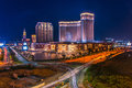 Venetian macau a view of at night Stock Image