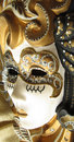 Venetian mask on gold background Royalty Free Stock Photos