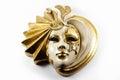 Venetian Mask - Golden Mask Royalty Free Stock Photo