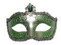 Venetian mask green for masquerade Stock Photography