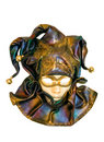 A Venetian mask isolated on white Royalty Free Stock Photo