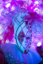 Venetian mask las vegas dec performer with style at the carnival experience festival in the hotel in las vegas on Royalty Free Stock Image