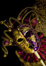 Venetian mask theater on black Stock Photos