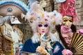 Venetian masked model from the Venice Carnival 2015 with near Plaza San Marco, Venezia, Italy Royalty Free Stock Photo