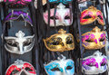 Venetian masks at the exhibition Royalty Free Stock Image