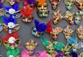Venetian masks in store display in venice annual carnival in venice is among the most famous in europe its symbol is the venetia Stock Images