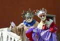 Venetian Street Performers Royalty Free Stock Image