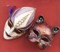 Venetian style masks two isolated mask Stock Images