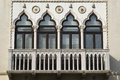 Venetian-style windows Royalty Free Stock Photo