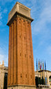 Venetian tower in Barcelona Royalty Free Stock Photo