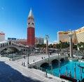 Venetian wide angle view, Las Vegas Stock Image