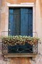Venetian window with closed shutters Royalty Free Stock Images