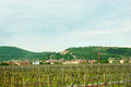 Veneto landscape traveling by car it s easy to find such beautiful destinations as the small town with a castle on the hill and Stock Images