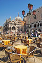 VENEZIA, ITALY - AUGUST 24: Piazza San Marco with Campanile, Bas Royalty Free Stock Photo
