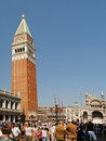 VENEZIA, ITALY - AUGUST 24: Piazza San Marco with Campanile Royalty Free Stock Photo
