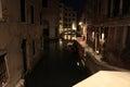 Venezia night streets in italia Royalty Free Stock Photos