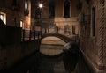 Venezia streets in the night italy Royalty Free Stock Photography