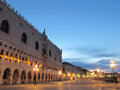 Venezia during the sunset with lights Royalty Free Stock Photography