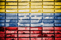Venezuela flag painted on brick wall Stock Images