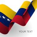 Venezuela flag. Patriotic design. Vector.