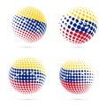 Venezuela halftone flag set patriotic vector.
