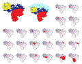 Venezuela provinces maps a set of Stock Photos