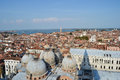 Venice from above top view of with historical buildings Royalty Free Stock Image
