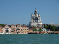 Venice basilica of the salute as seen from the giudecca canal Stock Photos