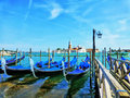 Venice the blue laguna italy most romantic city in world Stock Images