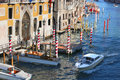 Venice with boats on Grand canal Stock Image