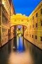 Venice, Bridge of Sighs - Ponte dei Sospiri Royalty Free Stock Photo