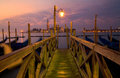 Venice bridge at Sunrise Stock Photography