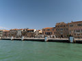 Venice buildings along giudecca canal Royalty Free Stock Images
