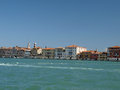 Venice buildings along giudecca canal Stock Photography