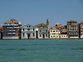 Venice buildings along giudecca canal Stock Image