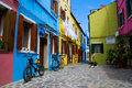 Venice, Burano island houses Stock Photography