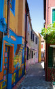 Venice, Burano island street Royalty Free Stock Photo