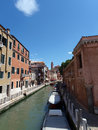 Venice canal along the fondamenta papadopoli Stock Images