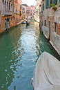 Venice Canal in summer with Gondola Stock Photography