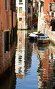 Venice, canal and water reflection Royalty Free Stock Photo