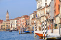 Venice canale grande in italy Royalty Free Stock Photo