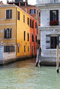 Venice canals traditional water canal in Royalty Free Stock Photos