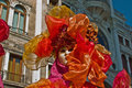 Venice carnival masks colors and atmosphere and characters of the of Royalty Free Stock Photos